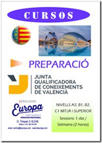 Curso preparatorio de Valenciano en el Centro FP Europa